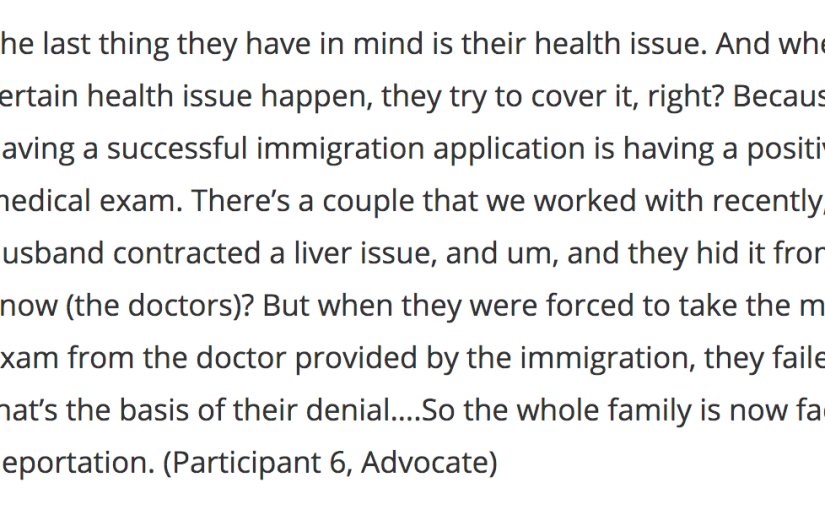 'And when a certain health issue happen, they try to cover it': Stakeholder perspectives on the health of temporary foreign workers and theirfamilies