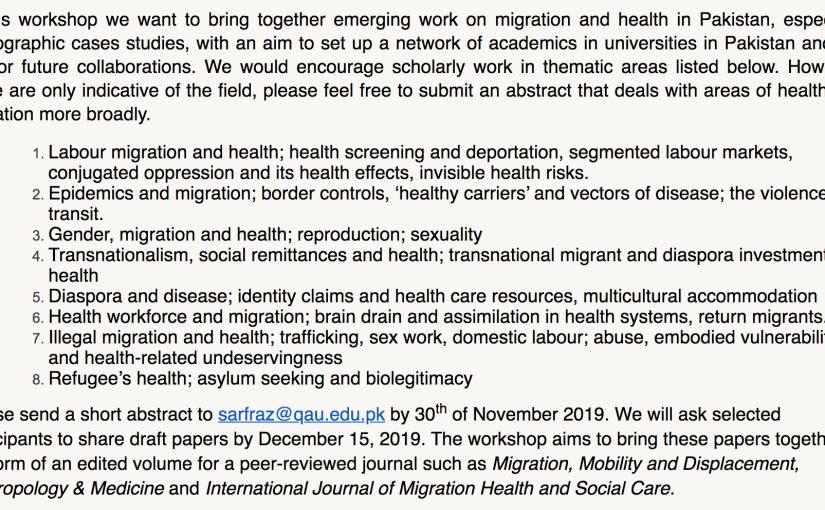 Health and MigrationWorkshop