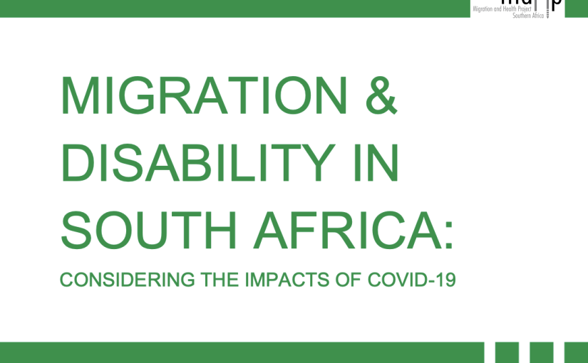 Migration and Disability in SouthAfrica